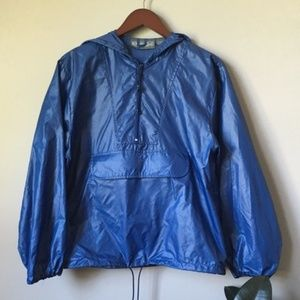 VTG Whitefish Bay Pullover Windbreaker Blue 0535